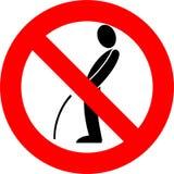 Zeichen - kein Pinkeln Stockfoto