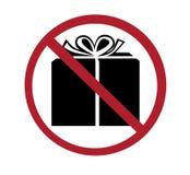 Zeichen - keine Geschenke Lizenzfreies Stockfoto
