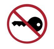 Zeichen - keine Taste, stellen Motor ab Lizenzfreie Stockfotografie