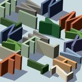 Zeichen-Labyrinth Lizenzfreies Stockfoto