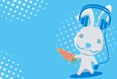 Zeichen-lustiges Kaninchen Lizenzfreies Stockfoto