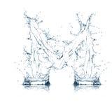 Zeichen M des Wasseralphabetes Stockfotografie