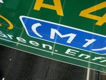 Zeichen M1 Lizenzfreie Stockbilder