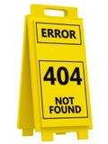 Zeichen mit 404 Fehlern Stockbild