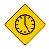 Zeichen mit 5 Uhr Lizenzfreie Stockfotos