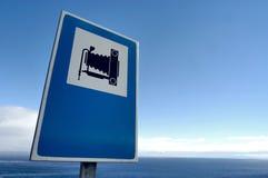 Zeichen mit Abbildung einer Fotokamera Lizenzfreies Stockbild