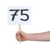 Zeichen mit einer Zahl, 75 Stockbilder