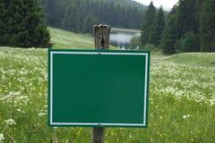 Zeichen mit Exemplar-Platz Lizenzfreies Stockbild