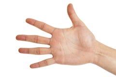 Zeichen mit fünf Fingern lizenzfreie stockfotografie