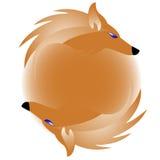 Zeichen mit Fuchs vektor abbildung