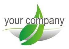 Zeichen mit grünem Blatt stock abbildung