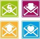 Zeichen mit mails3 Lizenzfreies Stockbild