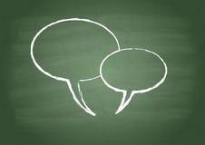 Zeichen mit zwei Gesprächen Lizenzfreies Stockbild