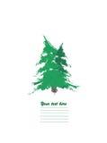 Zeichen mit zwei Tannenbäumen Lizenzfreies Stockbild