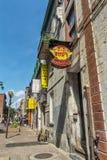 Zeichen Montreals Chinatown Lizenzfreies Stockfoto
