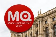 Zeichen MuseumsQuartier Wien Lizenzfreie Stockbilder