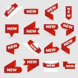 Zeichen neu Neue Zeichen stock abbildung