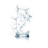 Zeichen O des Wasseralphabetes Stockfoto