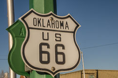Zeichen Oklahomas US 66 Stockbild