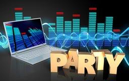 Zeichen-Parteizeichen der Partei 3d Lizenzfreie Stockfotos
