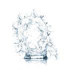 Zeichen Q des Wasseralphabetes Lizenzfreie Stockfotografie