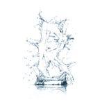 Zeichen R des Wasseralphabetes Stockbild