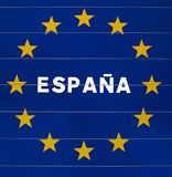 Zeichen am Rand von Spanien Stockbild