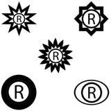 Zeichen registriertes Logo Stockfoto