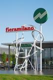 Zeichen Rho Fiera Mailand Stockbilder