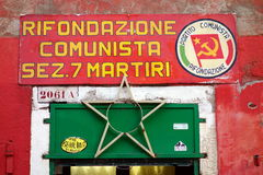 Zeichen Rifondaziones Comunista Lizenzfreie Stockbilder