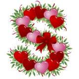 Zeichen S - Valentinsgrußzeichen Stockfotografie