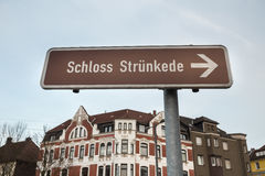 Zeichen Schloss struenkede Hernes Deutschland Stockfotografie