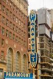 Zeichen Seattles Paramount stockfotos