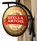 Zeichen Stella-Artois lizenzfreie stockfotos