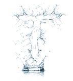 Zeichen T des Wasseralphabetes Lizenzfreies Stockfoto