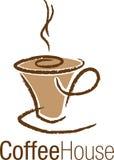 Zeichen-Tasse Kaffee Stockfotografie