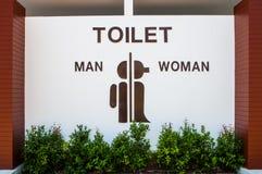 Zeichen-Toilette Lizenzfreie Stockbilder
