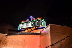 Zeichen Universal Studioss Hollywood stockbild