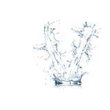 Zeichen V des Wasseralphabetes Stockfotografie
