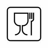 Zeichen-Vektordesign des Lebensmittels sicheres stockfotografie