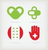Zeichen vier für Apotheke Stockbild