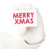 Zeichen/Visitenkarte der frohen Weihnachten Lizenzfreies Stockfoto