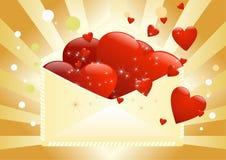 Zeichen voll der Liebe Stockbilder