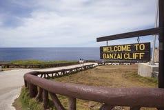 Zeichen von Banzai Cliff, Saipan lizenzfreies stockbild