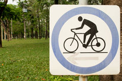 Zeichen von bicylce. Lizenzfreie Stockbilder
