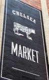 Zeichen von Chelsea Market Lizenzfreie Stockfotos