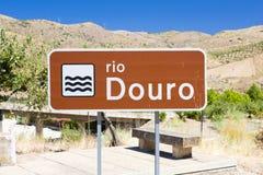 Zeichen von Douro Fluss lizenzfreies stockfoto