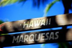 Zeichen von Hawaii Lizenzfreie Stockbilder