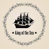 Zeichen von König des Meeres Stockfoto