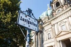 Zeichen von Lustgarten, Berlin Lizenzfreie Stockfotografie